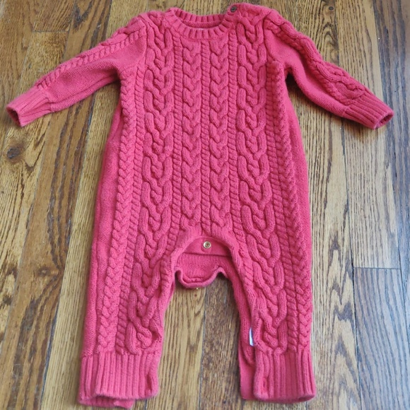 1ecdcb104b5 GAP Other - Baby Gap Red Cable knit Onesie 6-12 mo